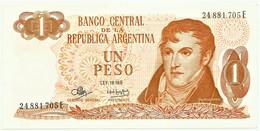 Argentina - 1 Peso - ND ( 1970 - 1973 ) - Pick 287 - Serie E - Sign. Titles C - General Manuel Belgrano - Argentinien