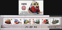 Korea 2004. Locomotives Of The World (MNH OG) StampPack - Korea (Nord-)