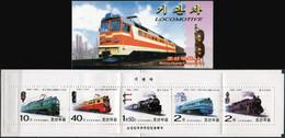 Korea 2002. Locomotives (MNH OG) StampPack - Korea (Nord-)