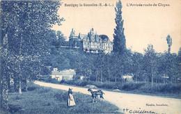EURE ET LOIR  28  MONTIGNY LE GANNELON - L'ARRIVEE ROUTE DE CLOYES - Montigny-le-Gannelon