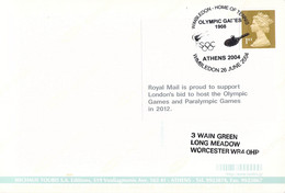 Great Britain Postcard Posted Wimbledon 2004 Home Of The Tennis  (DD25-1) - Tennis