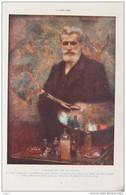 Le Peintre Rol - Par Levy-Dhurmer - Page Original En Couleur 1914 - Historical Documents