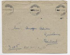 LETTRE FRANCHISE KRAG DATEUR PREFECTURE NOV 1946 ILLE ET VILAINE - Mechanical Postmarks (Advertisement)