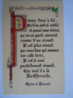 Enluminures Pensée - Charles De Foucauld - Pensez Tous à Lui, Qu'il Ne Soit Ni Oublié, Ni Passé Sous Silence, Qu'on En . - Jezus