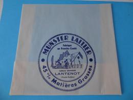Emballage De Munster Laitier Laiterie Zbinden Lantenot Haute Saône 70 - Cheese