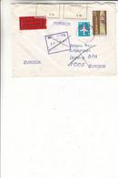 Allemagne - République Démocratique - Lettre Exprès De 1986 - Oblit Halle - Ouvert Par La Poste - Cachet De Leipzig - Covers & Documents