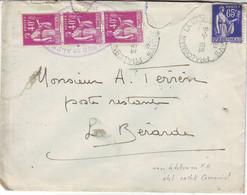 Lettre De Savoie Type Paix En Taxe De POSTE RESTANTE CUMULATIVE Obl Cachet TRES CURIEUX !!! 1938 , Pour L' Isere - 1921-1960: Modern Period