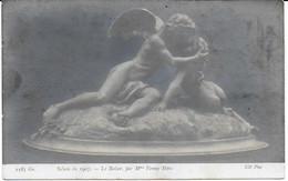 """"""" Le Baiser """" Par Fanny Marc, Salon De 1907, Paris   CPA - Sculptures"""