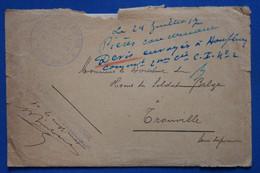 Z6 BELGIQUE  BELLE LETTRE  1917  GUERRE    POUR  TROUVILLE FRANCE ++ AFFRANCH. INTERESSANT - Ohne Zuordnung