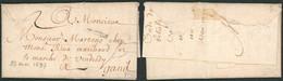 """Précurseur - LAC Datée De Tournay 23 Mai 1697 + Obl Linéaire """"TOVRNAY"""" (petit Format, Type 2) > Marchand à Gand - 1621-1713 (Spanish Netherlands)"""
