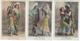 """La Mattiche Dansée Par """"les Rieuses"""" Belle Série De 6 Cartes - Baile"""