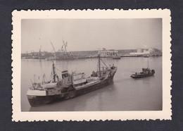 Photo Originale Vintage Snapshot Boulogne Sur Mer Départ Pour La Grande Pêche ( Bateau Pecheur  48048) - Places