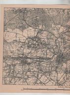 Carte état Major Belge Mons Obourg St Denis Hyon Guesmes Jemappes Nimy Ghlin - Non Classés