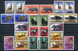 Congo Belge    350/361 **- 400/411 **   Faune - 1947-60: Mint/hinged