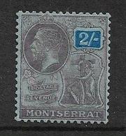 MONTSERRAT 1922 2s SG 79 MOUNTED MINT WATERMARK MULTIPLE SCRIPT CA Cat £7 - Montserrat