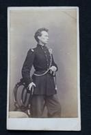 Photographie D'un Militaire (infanterie) Par J. Korsten Photographe Middelburg - Oud (voor 1900)