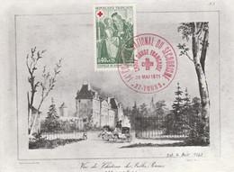 14 EME CONGRES DU SECOURISME CROIX ROUGE à TOURS 1971 - Commemorative Postmarks