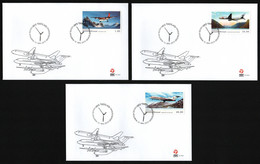 Grönland 2015 - Mi-Nr. 697-699 - 3 FDC - Flugzeuge / Airplanes - FDC