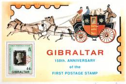 """PIA -  GIBILTERRA - 1990  : 150° Anniversario Del """"Penny Black""""- (Yv  Bf 14) - Gibilterra"""