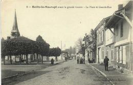 Heiltz Le Maurupt Avant La Grande Guerre  La Place Et La Grande Rue Animée  Recto Verso - Autres Communes