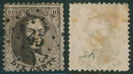 "Médaillon Dentelé - N°14 Obl Pt 45 (Lp 45) ""Boitsfort"". Beau Centrage ! - 1863-1864 Medaillons (13/16)"