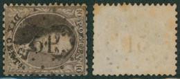 """Médaillon Dentelé - N°14 Obl Pt 51 (Lp 51) """"Braquegnies"""" / Quelques Rousseurs - 1863-1864 Medaillons (13/16)"""