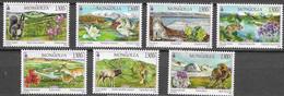 MONGOLIA,  2020, MNH, LANDSCAPES, BIRDS,  EAGLES, FELINES, MOUNTAINS, DEER, SQUIRRELS, 7v - Eagles & Birds Of Prey