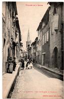 Limoux - Rue Saint Martin Et Clocher - CPA° - Limoux