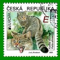 Tschechische Repubklik 2021 , EUROPA CEPT Heimische Wildtiere - Gestempelt / Fine Used / (o) - 2020