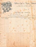 """02876 """"FABBRICA CARTE DA PARATI E PATINATE - GIA' BARONE AMBROGIO E FIGLIO - TORINO"""" ESTRATTO CONTO. I DECADE XX SECOLO - Invoices"""