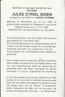 Moorslede, Roeselare, 1984, Jules Sioen, Strome, Familie Degezelle, Schepens - Devotieprenten