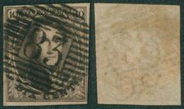 """Médaillon - N°6 Bien Margé Obl P83 """"Mons"""" - 1851-1857 Medaillons (6/8)"""