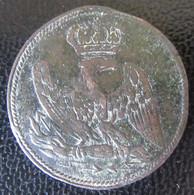 Bouton Plat Napoléon Ier à L'aigle Impérial En Bronze - Diamètre 25 Mm - Buttons