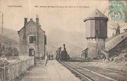 H1108 - AUVERGNE - Station De Saint Jacques Des Blats Et Le Puy Griou - Train - Auvergne