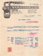 """02882 """"L. DEMEGLIO & C. - TORINO - UTENSILI......- CINGHIE LUBRIFICANTI......"""" FATTURA 1926 - Invoices"""