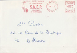 EMA  SUR LETTRE DE MONTIVILLIERS 1971 - EMA (Print Machine)