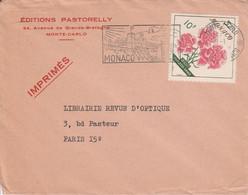 MONACO SEUL SUR LETTRE A EN TETE POUR LA FRANCE 1967 - Lettres & Documents