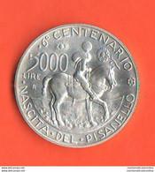 Italia Repubblica 5000 LIRE Pisanello 1995 Commemorative Argento Silver Coin - 5 000 Lire