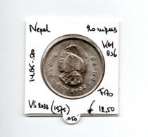 NEPAL 20 RUPEES VS2032/1975 ZILVER FAO - Nepal