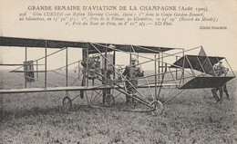 Grande Semaine D'Aviation De La Champagne (Août 1909) Glen CURTISS Sur Biplan Harring Curtiss ... - ....-1914: Voorlopers