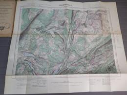 CHAMPAGNOLE - XXXIII 26 - CARTE DE FRANCE TYPE 1922 - MINISTERE DE LA GUERRE - SERVICE GEOGRAPHIQUE DE L' ARMEE 1931 - Mapas Geográficas