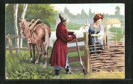 AK Ukraine, Widoki I Typy Ukrainy, Ukrainisches Bauernpaar Mit Einem Pferd - Non Classificati