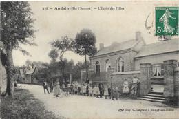 CPA ANDAINVILLE L'école Des Filles - Otros Municipios