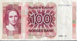 Norway 100 Kroner, P-43c (1986) - Very Fine - Norway