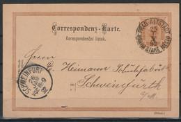 Oostenrijk Postkaart 1892 Van Praag Naar Schweinfurt / Opruiming, Clearance Sale, Déstockage. - Covers & Documents