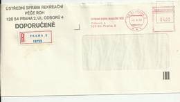 Czechoslovakia Registered Cover, Meter Mark. 1990. - Storia Postale