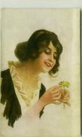 MONESTIER SIGNED 1910s POSTCARD - WOMAN & DAISY - N.250/5 - UFFICIO POSTA MILITARE DIVISIONE  (BG1908) - Monestier, C.