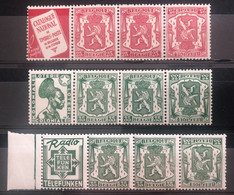 België, PUc76/85/93A, Postfris **, OBP 16.5€ - Pubblicitari