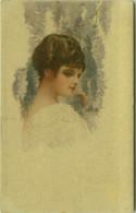 MONESTIER SIGNED 1910s POSTCARD - WOMAN  - N.254/2 - (BG1909) - Monestier, C.