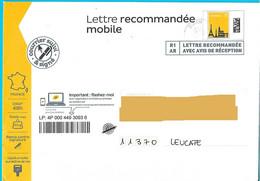 Lettre Recommandée Mobile R1 AR Toshiba Courrier Suivi Et Signé - PAP:  Varia (1995-...)
